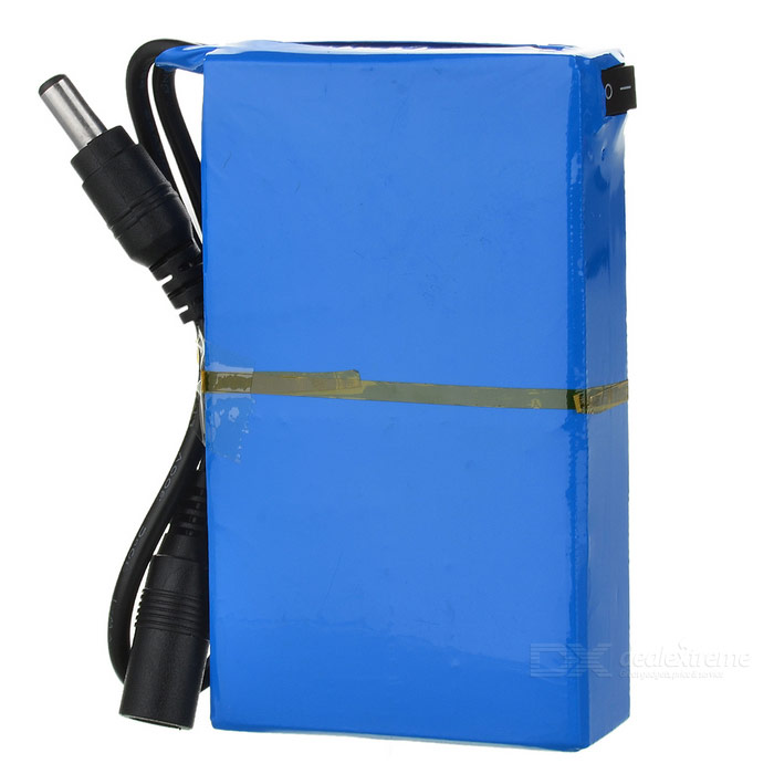 4000mAh Explosion-proof Rechargeable Li-Ion Battery w/ Switch - Blue