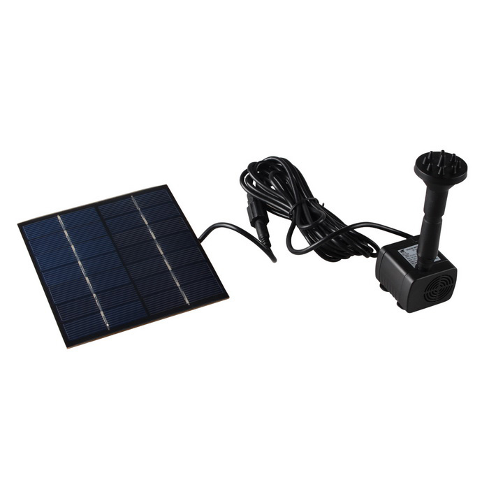 Solar Powered Brushless Motor Water Pump Fountain Black