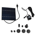 Solar Powered Brushless Motor Water Pump Fountain - Black