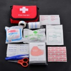 11-in-1 Outdoor Emergency First Aid Kit - Red