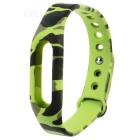 Replacement TPE + TPU Wrist Band Strap Wristband for Xiaomi Smart Bracelet - Black + Light Green