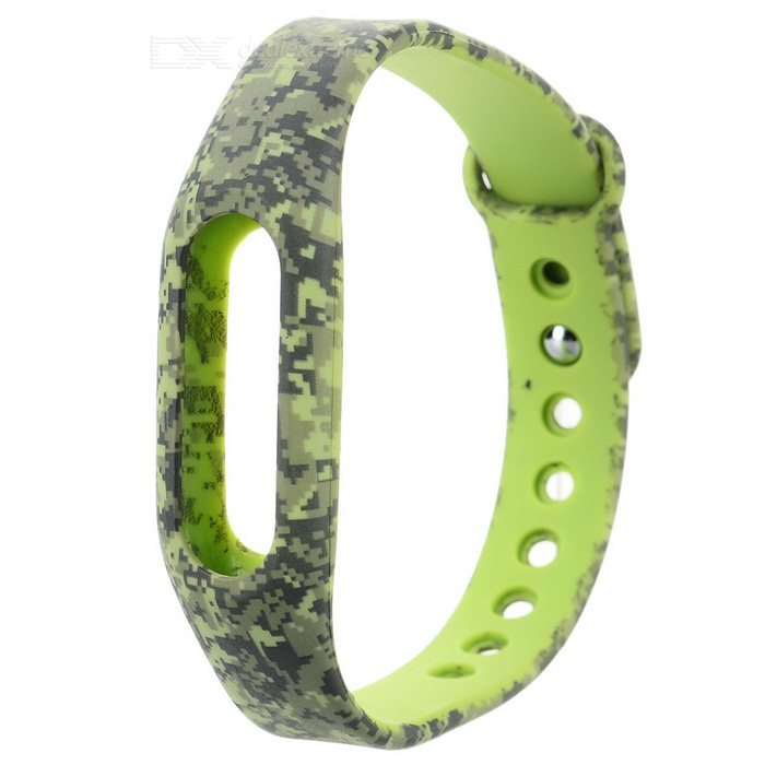 Wrist Band Strap for Xiaomi Smart Bracelet - Green Camouflage
