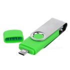 Rotary 8GB Micro USB / USB 2.0 Storage Flash Drive for Android - Green