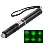 5mW Green 532nm Laser Pen w/ Adapters + US Plug Power Adapter - Black (1 x 18650)