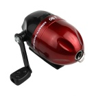 Full Closed Light Spherical Fishing Reel w/ Button - Red + Black