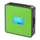 High Speed All-in-One USB 3.0 SD / TF / CF / MS / M2 / XD Card Reader - Green + Black