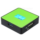 Leitor de cartões USB 3.0 SD TF CF MS M2 XD all-in-one - verde + preto