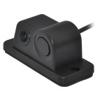 Universal Waterproof 2-in-1 Car Visual Reversing Radar Detector Rearview Camera - Black