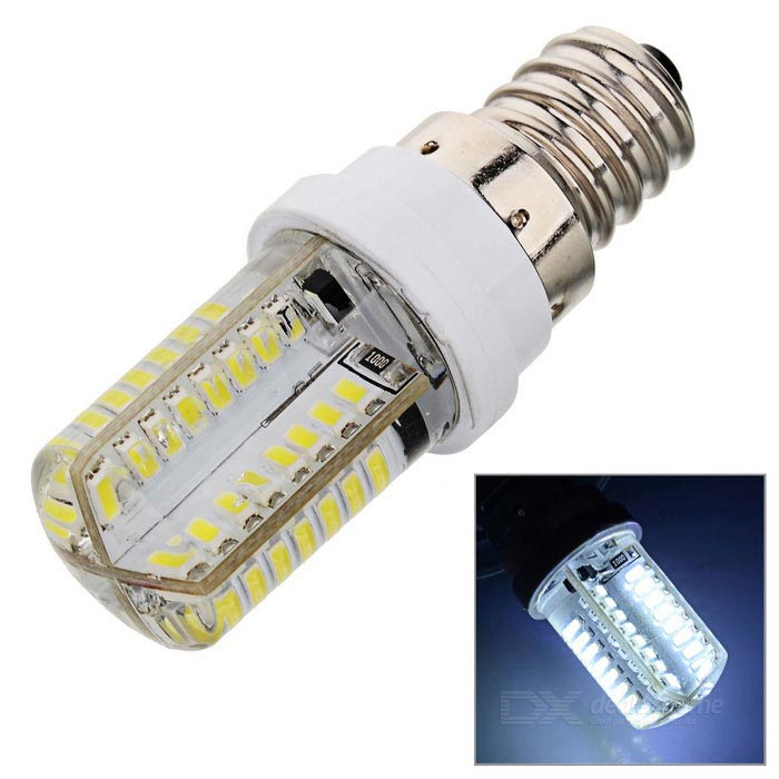 E12 3W LED Bulb Lamp Bluish White Light 180lm 64-SMD 3014 (AC 220V)