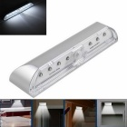 4W Auto PIR LED Night Light Daylight / Motion Sensor Light White Light 320lm 6000K - Silver (DC 3V)
