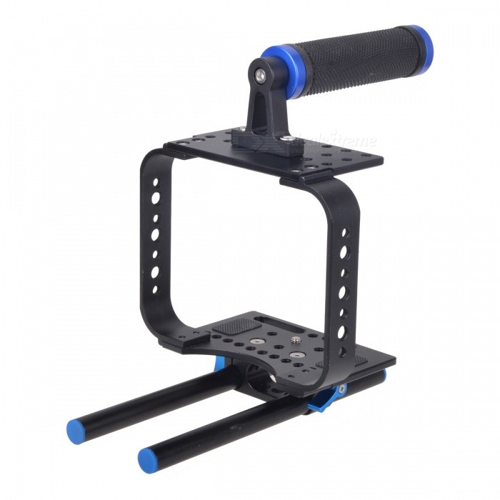 EOSCN Camera Cage Rig Kit for BMCC Blackmagic Cinema Camera - BlackTripods and Holders<br>Form ColorBlackMaterialAluminum alloyQuantity1 DX.PCM.Model.AttributeModel.UnitTypeOthers,Camera CageRetractableNoScrew Size1/4 inchFull Size 22.7 x 18.8 x 16.5 DX.PCM.Model.AttributeModel.UnitMax.Load5 DX.PCM.Model.AttributeModel.UnitCertificationCEPacking List1 x Top handle1 x Cage body1 x Baseplate 2 x 15mm rails4 x Installation screws2 x Wrench tools<br>