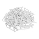 Os T de madeira do golfe de TOURLOGIC ajustaram - o branco (100PCS)