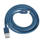 D8 D8-0411 MFI Certified USB to 8pin Lightning Data Sync / Charging Cable - Blue (1m)