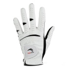 TOURLOGIC Men's Full Finger Goat Skin + PU Leather Golf Glove - White + Black