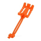 EDCGEAR MOLLE Dominator Buckle Clip w/ Elastic Cord - Orange (10PCS)