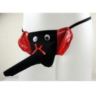 Men's Fun Elephant Sexy Thong Briefs Underwear-Vermelho + Preto
