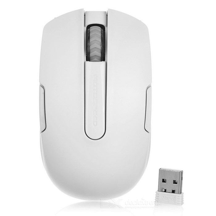 Motospeed G12 2.4G Wireless Mouse for Laptop / PC - White (1*AA)