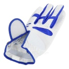 TOURLOGIC Kid's Full Finger Goat Skin + PU Leather Golf Glove - Blue