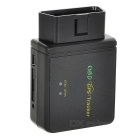 OBDII OBD2 Anti-Theft Car Vehicle GPS Tracker Tracking System - Black