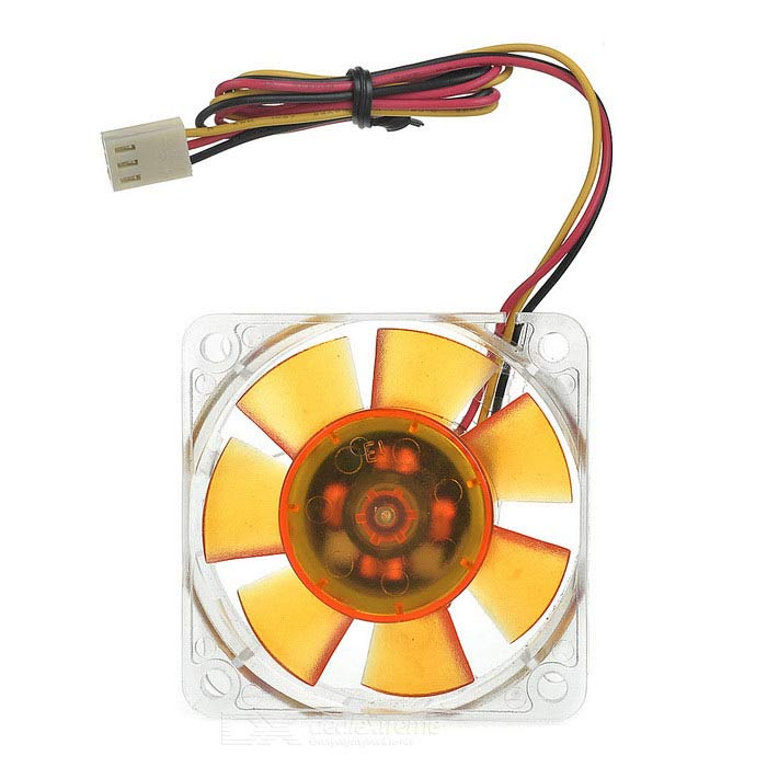 AKASA AK-186-L2B PC Case 6cm Quiet Cooling Fan - Amber + Transparent