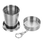 Sunfield Portable 75ml Retractable Stainless Steel Cup w/ Cover - Bright Silvery Grey