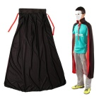 Halloween Double-sided Stand-up Collar Vampires Cloak - Black + Red