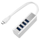 Type-C 4-Port USB 3.0 Super Speed HUB - Silvery White