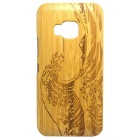 Wind Wave Pattern Detachable Bamboo Back Case for HTC ONE M9 - Yellow