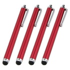 Capacitive Touch Screen Stylus for IPHONE / IPAD - Red (4PCS)