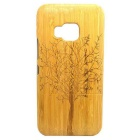 Big Tree Pattern Detachable Protective Bamboo Back Case for HTC ONE M9 - Yellow