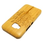 Big Tree Pattern Detachable Bamboo Back Case for HTC ONE M9 - Yellow