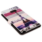 ENKAY Tower Pattern Case w/ Card Slots for Samsung Note 5 - Multicolor