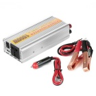 1500W Car DC 12V to AC 110V Power Adapter Converter w/ USB - Silver