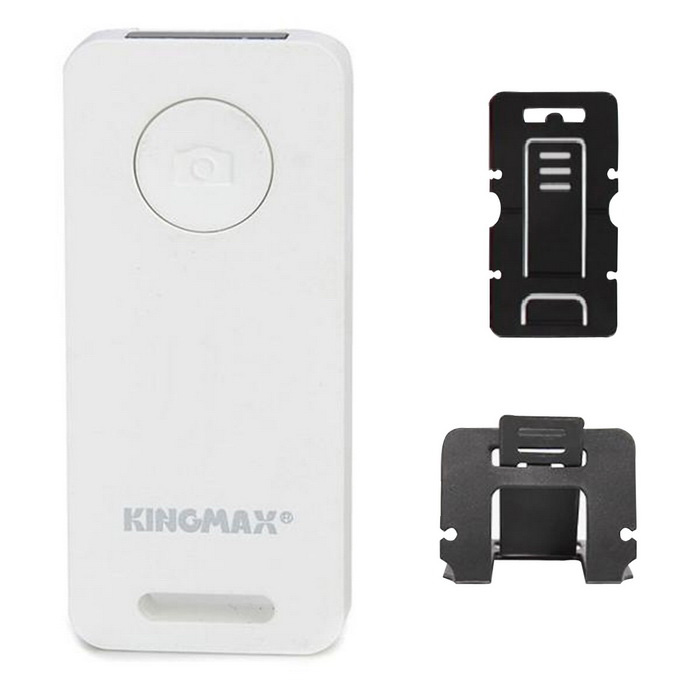 KINGMAX KBS-01 Bluetooth Selfie Controle Remoto w / Folding Holder para Smartphone - Branco (1 x CR2032)