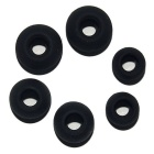 S M L Silicone In-ear Earphone Headphone Earbuds Caps - Black (3-Pair)