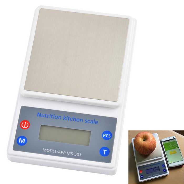 Ms 501 2 4 Lcd Bt Nutrition Kitchen Scale For Android Ios System