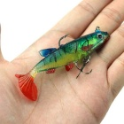 Fishing Silicone Soft Bait w/ Barb Hook - Red + Green + Multicolor