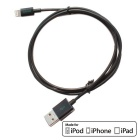 CARVE 8Pin Lightning to USB 2.0 Data Sync / Charging Cable for IPHONE 6 / IPAD - Black (1m)