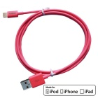 CARVE 8Pin relámpago al cable del USB 2.0 para IPHONE 6, IPAD - color de rosa (1m)