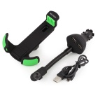 RUITAI HC84K Dual-USB Car Charger w/ Holder for IPHONE - Black + Green
