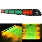 Wasserdichte Wired 150W 15-XML LED Arbeits Bar / Foglight Flood Orange + Green Light 12750lm (9 ~ 60V)
