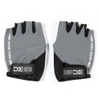 Basecamp BC-204 Breathable Anti-Shock Lycra Cycling Bicycle Half-Finger Gloves - Grey (XL / Pair)