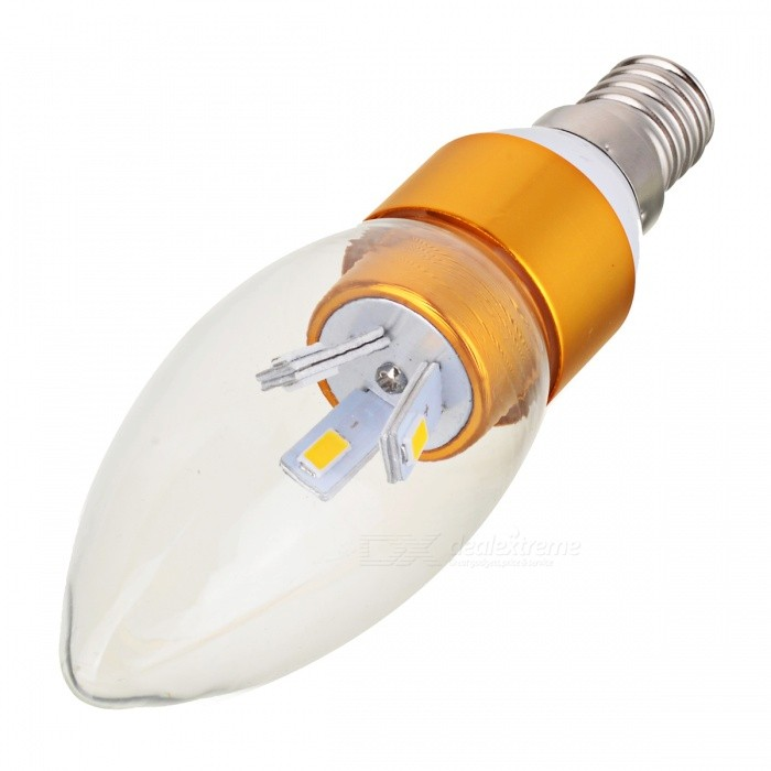 Dimmable E14 3W 300lm 3000-3200K 6-SMD LED Bulb Warm White - Golden