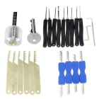 Transparent Practice Lock + 9-Piece Lock Picks + Comb Style Lock Picks Tools Set w/ 1 Key