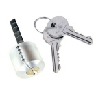 Transparent Practice Lock + Comb Style Lock Picks Tools Set w/ 2 Keys