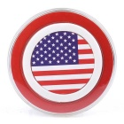 American National Flag Pattern QI Standard Wireless Charger for Smartphones - Red