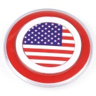 American National Flag Pattern QI Wireless Charger for Phones - Red