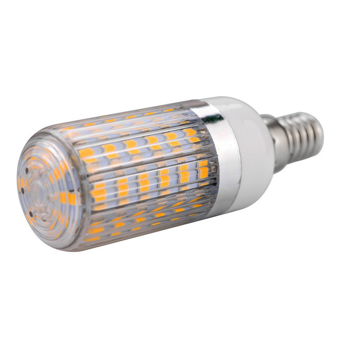 E14 11W 56-SMD Warm White Stripy Shaded Light LED Corn Bulb