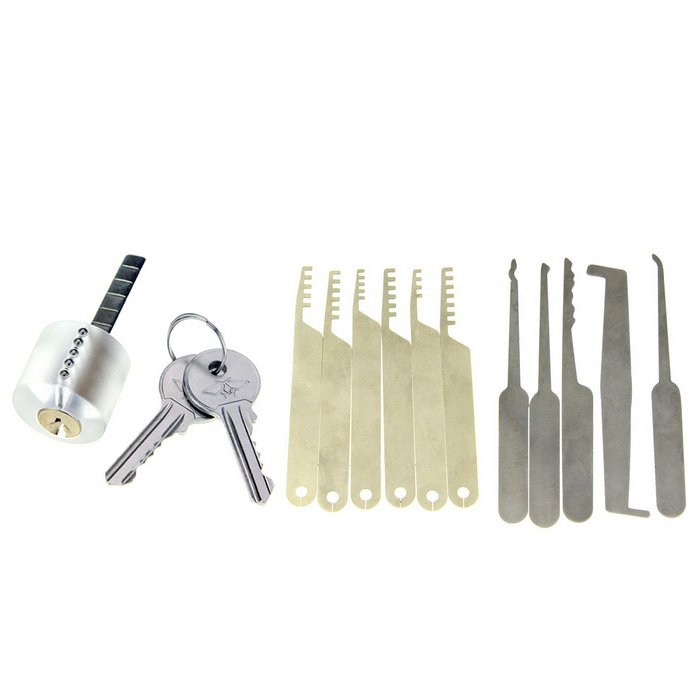 14-in-1 transparante praktijk lock picking tools set