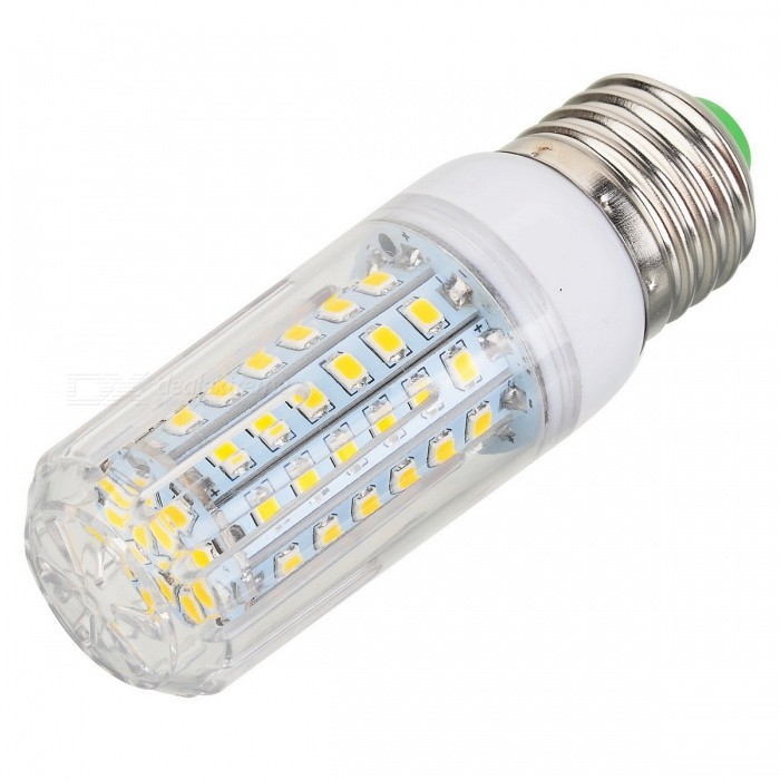 E27 15W Corn Light Warm White 3000K 1300lm 72-SMD 2835E27<br>Form  ColorWhiteColor BINWarm WhiteMaterialPlastic + aluminumQuantity1 DX.PCM.Model.AttributeModel.UnitPowerOthers,15WRated VoltageAC 220-240 DX.PCM.Model.AttributeModel.UnitConnector TypeE27Chip BrandOthers,N/AChip TypeLEDEmitter TypeOthers,2835 SMDTotal Emitters72Theoretical Lumens1600 DX.PCM.Model.AttributeModel.UnitActual Lumens1300 DX.PCM.Model.AttributeModel.UnitColor Temperature3000KDimmableNoBeam Angle360 DX.PCM.Model.AttributeModel.UnitCertificationCE, RoHSPacking List1 x LED bulb<br>